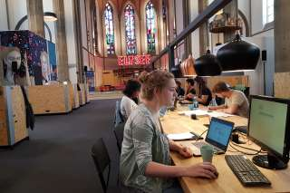 Coworking DIGITAL CHURCH digitalChurch digitalHUB Aachen Kirche Kirchenschiff