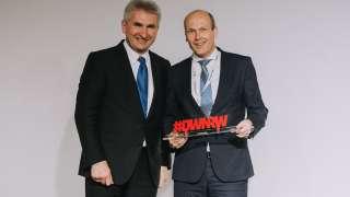 DWNRW-Summit in Düsseldorf NRW-Wirtschaftsminister Andreas Pinkwart (l.), Christian Schallenberg, Mitglied der LANCOM Geschäftsleitung