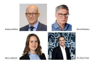 Referenten Bernd Mathieu, Nina Lessenich, Andreas Müller, Oliver Grün