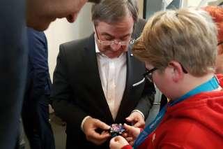 Ministerpräsident Laschet beim Girls Day im digitalHUB Aachen