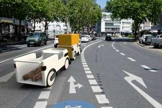 Ducktrain auf Fahrradweg
