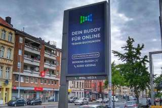 Werbeclip digitalHUB Startup Bookingbuddy auf den Digital City Flags RBL